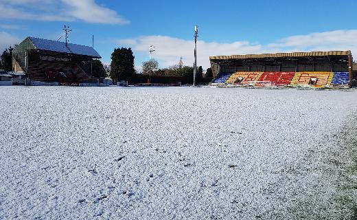 Pitch with snow Feb 2017
